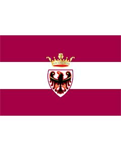 Fahne: Flagge: Provinz Trento