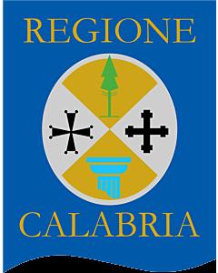 Fahne: Flagge: Calabria Gonfalone