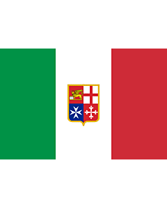 Fahne: Flagge: Civil Ensign of Italy   Italy used by Italy current since 9 November 1947 created by format 2 3 shape rectangular colours see included flag other characteristics naval ensign Civil naval flag of Italy  the military naval flag differs from t