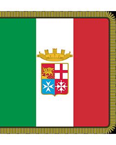 Fahne: Flagge: Combat flag of the Italian Navy  front   Front of the combat flag of the Italian Navy   Fronte della bandiera di combattimento della Marina Militare