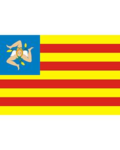 Fahne: Flagge: FNS   Frunti Nazziunali Sicilianu  Sicilian National Front