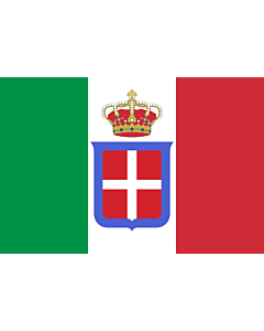 Fahne: Flagge: Italy  1861-1946  crowned   It is easy to put a border around this flag image