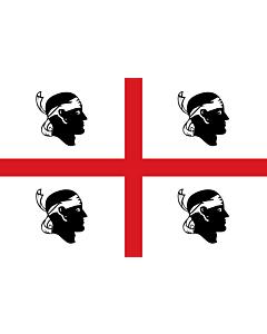 Fahne: Flagge: Sardinia   It is easy to put a border around this flag image   Regione autonoma italiana Sardegna   Sa regione autònoma de sa Sardinna