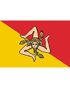 Fahne: Flagge: Sizilianischen Region  oder der Autonomen Region Sizilien