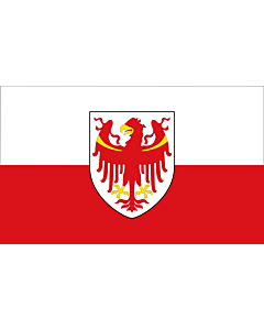 Fahne: Flagge: Autonomen Provinz Bozen - Südtirol