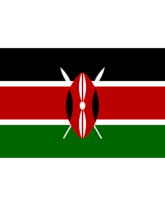 Fahne: Flagge: Kenia