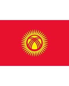 Fahne: Flagge: Kirgisistan