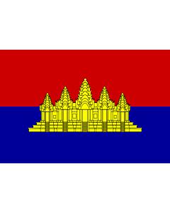 Fahne: Flagge: State of Cambodia  alternate   vesion | State of Cambodia  1989-1993 | L État du Cambodge  1989-1993 | ទង់ជាតិរដ្ឋកម្ពុជា  1989-1993 | ธงชาติรัฐกัมพูชา  ระหว่าง พ