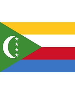 Fahne: Flagge: Komoren