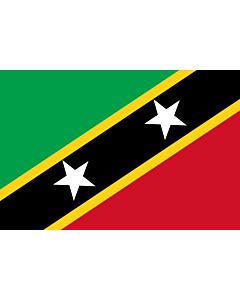 Fahne: Flagge: St. Kitts und Nevis