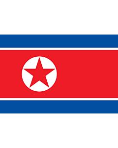 Fahne: Flagge: Korea (Demokratische Volksrepublik) (Nordkorea)
