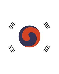 Fahne: Flagge: Korea 1882 | 1882 version of the flag of Korea