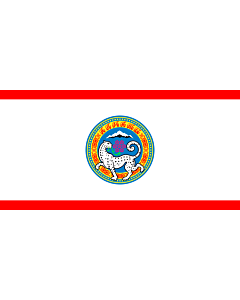 Fahne: Flagge: Almaty | Official flag of Almaty city in the Republic of Kazakhstan