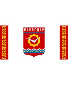 Fahne: Flagge: Pavlodar | Pavlodar, Kazakhstan