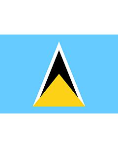 Fahne: Flagge: Saint Lucia (St. Lucia)