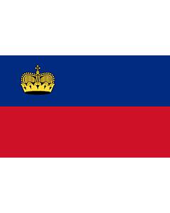 Fahne: Flagge: Liechtenstein