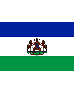 Fahne: Flagge: Royal Standard of Lesotho | Royal Standard of Lesotho from October 4, 2006