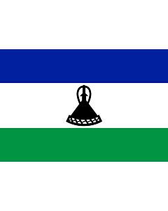 Fahne: Flagge: Lesothos