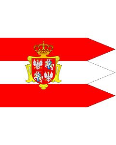 Fahne: Flagge: Rzeczypospolitej Obojga Narodow ogolna | Royal banner  not a flag  of the Polish-Lithuanian Commonwealth  during the reign of the House of Vasa   1587-1668  but without any symbols of the House of Vasa and Polish-Swedish personal union | Ch