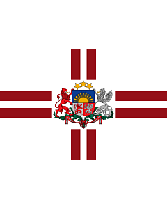 Fahne: Flagge: President of Latvia | That is used by the President of Latvia