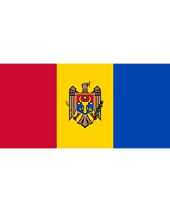 Fahne: Flagge: Moldova, reverse   Republicii Moldova, revers