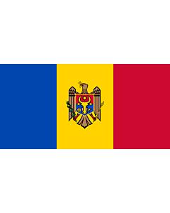 Fahne: Flagge: Moldawien (Republik Moldau)