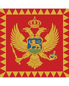 Fahne: Flagge: Presidential Standard of Montenegro | Standard of the President of Montenegro  on land | Predsjednika Crne Gore  na kopnu | Predsjednička zastava Predsjednika Crne Gore  na kopnu