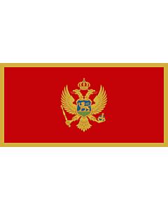 Fahne: Flagge: Montenegro