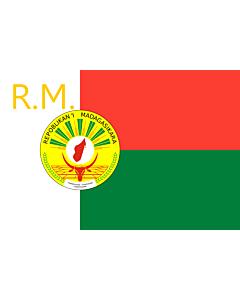 Fahne: Flagge: Presidential Standard of Madagascar