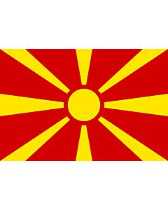 Fahne: Flagge: Republik Mazedonien