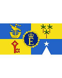 Fahne: Flagge: Royal Standard of Mauritius | Queen Elizabeth II s personal flag for Mauritius | Étendard royal de Maurice