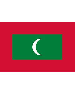 Fahne: Flagge: Malediven