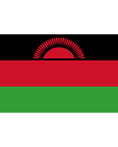 Fahne: Flagge: Malawi
