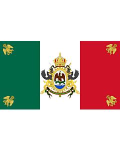 Fahne: Flagge: Mexico  1864-1867   México  1864-1867   Īpān Mēxihco  1864-1867