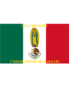 Fahne: Flagge: Mexico Flag Cristeros | Such as this one were used by the Cristeros when resisting the secular government forces in the  Cristero War | Utilizado por los Cristeros en la Guerra Cristera | Īpān Cristopīxqueh