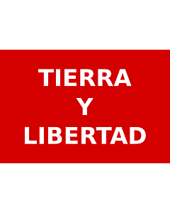 Fahne: Flagge: Partido Liberal Mexicano   Roja con el lema  Tierra y Libertad  en letras blancas usada por los guerrilleros del Partido Liberal Mexicano durante la Revolución Mexicana