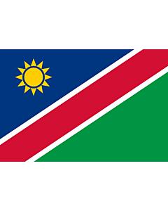 Fahne: Flagge: Namibia