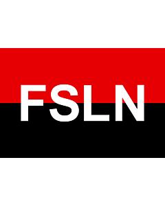 Fahne: Flagge: FSLN   Fuimos siempre ladrones nacionales