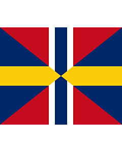 Fahne: Flagge: Union Jack of Sweden and Norway 1844-1905