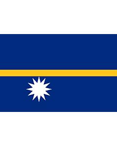 Fahne: Flagge: Nauru