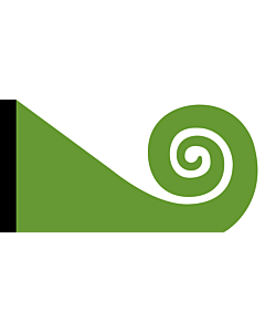Fahne: Flagge: Koru | This image shows the popular Koru Flag