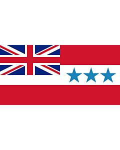 Fahne: Flagge: Rarotonga 1888-1893 | Rarotonga  now Cook Islands  from 1858 to 1893 | Het Koninkrijk Rarotonga tussen 1858 en 1893