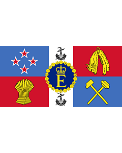 Fahne: Flagge: Royal Standard of New Zealand | Queen Elizabeth II s personal flag for New Zealand