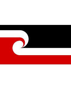 Fahne: Flagge: Tino Rangatiratanga Maori sovereignty movement | The Tino Rangatiratanga Flag of the Maori sovereignty movement