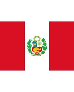Fahne: Flagge: Peru