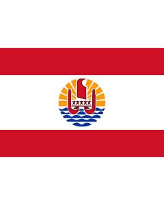 Fahne: Flagge: Französisch-Polynesien