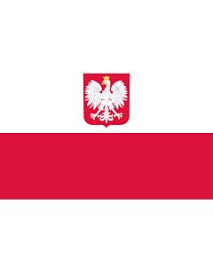 Fahne: Flagge: Polen