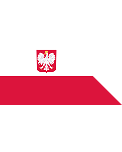 Fahne: Flagge: Naval Ensign of Poland