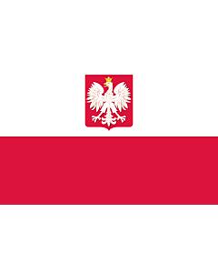 Fahne: Flagge: Poland  state | State flag of Poland | Polski z godłem