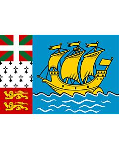 Fahne: Flagge: Saint-Pierre und Miquelon